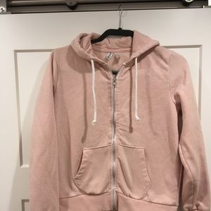Blush Pink Zip Up Hoodie